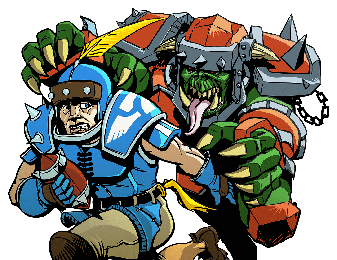Illustration of Blood Bowl players